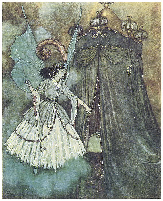 Beauty And The Beast Print by Edmund Dulac