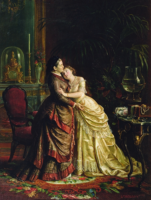 Before The Marriage Print by Sergei Ivanovich Gribkov