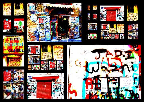 Beirut Colorful Walls Print by Funkpix Photo Hunter