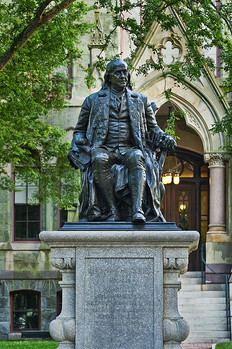 Ben Franklin At The University Of Pennsylvania Print by John Greim