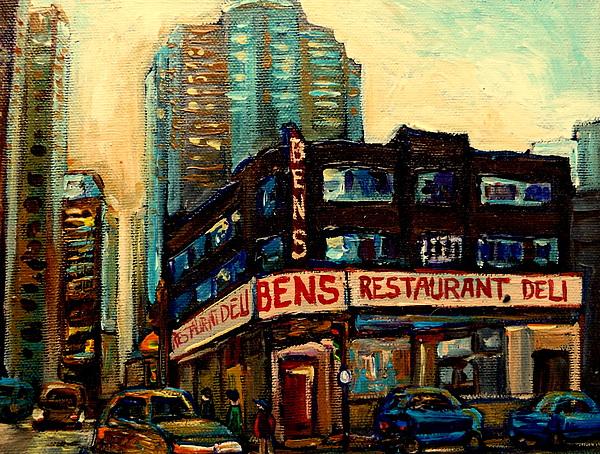 Bens Restaurant Deli Print by Carole Spandau