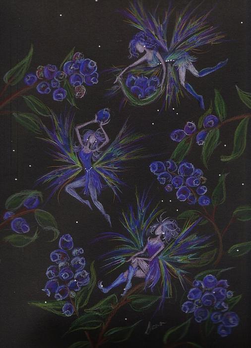 Berry Blues Print by Dawn Fairies