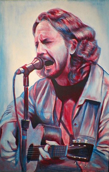 Betterman Eddie Vedder Print by Derek Donnelly