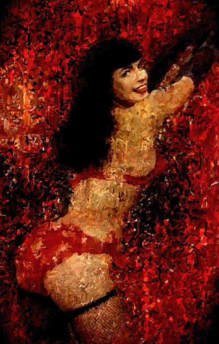 Bettie Page Painting Art Signed Prints Available At Laartwork.com Coupon Code Kodak Print by Leon Jimenez