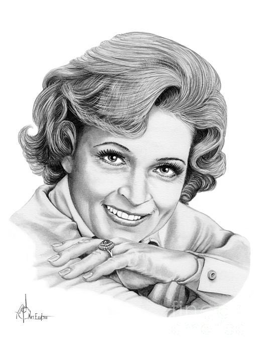 Betty White Print by Murphy Elliott