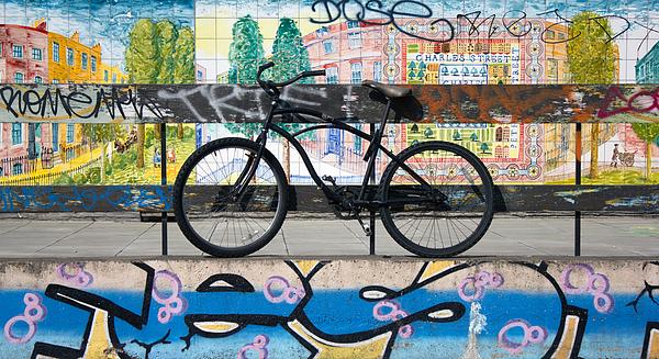 Bicycle Graffiti Print by Christos Koudellaris
