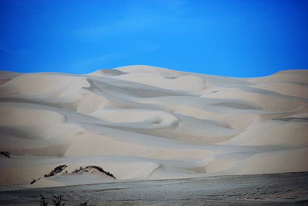 Big Sand Dunes In Ca Print by Susanne Van Hulst