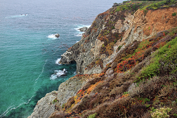Big Sur Colorful Sea Cliffs Print by Pierre Leclerc Photography