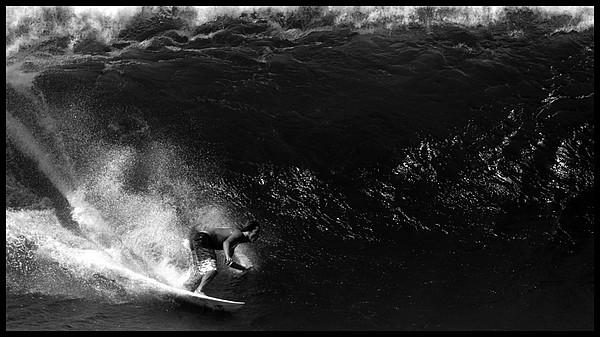 Big Wave Surfing Print by Brad Scott