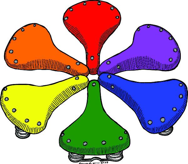 Bike Saddle Color Theory Print by Karl Addison