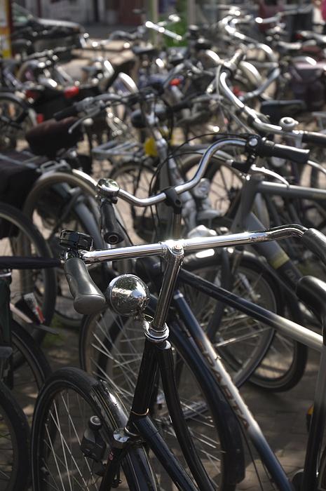 Bikes Bikes Bikes Print by Andy Smy