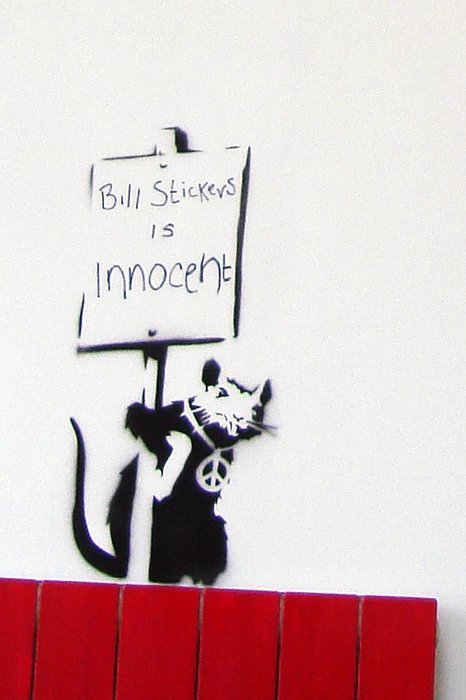 Bill Stickers Is Innocent Print by Amy Bernays
