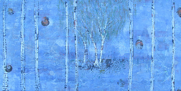 Birch Trees The Patio By Jacqueline Athmann