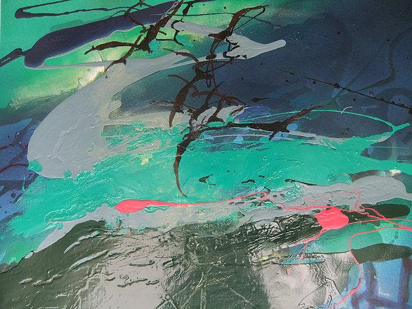 Birds Over The Sea Print by Joyce Garvey