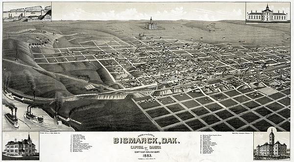 Bismarck, North Dakota, The Capital Print by Everett