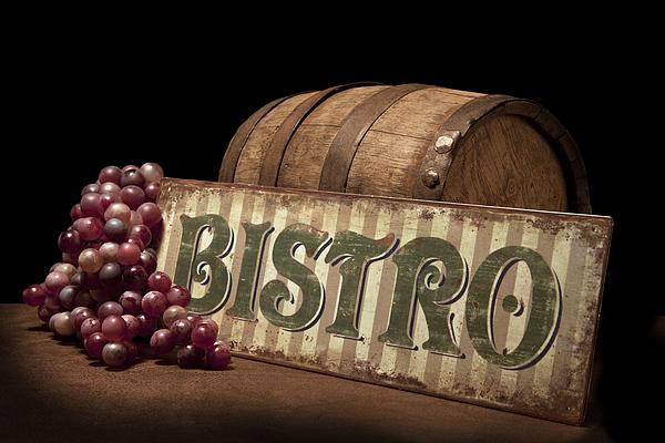 Bistro Still Life Iv Print by Tom Mc Nemar
