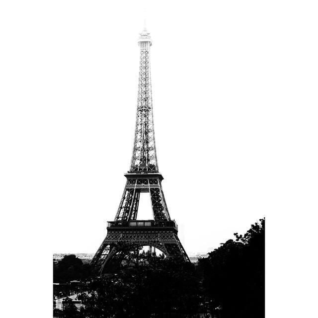 Black white eiffel bw paris by nomad art and design - Nomad s paris ...