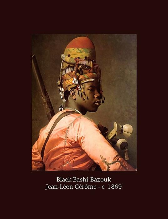 Black Bashi-bazouk - C. 1869 Print by Jean-Leon Gerome