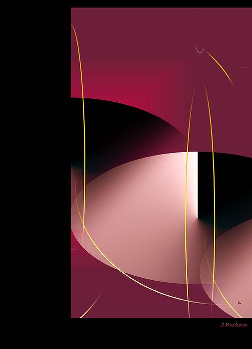 Black Vs White Vs Red Print by John Krakora