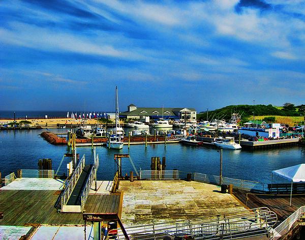 Block Island Marina Print by Lourry Legarde