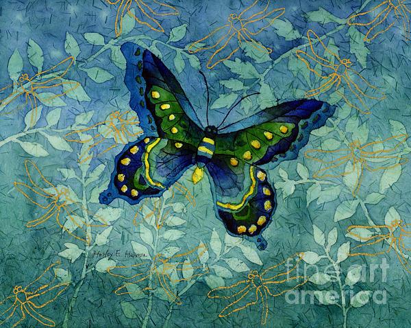 Curtains Ideas batik shower curtain : Blue Butterfly Print by Hailey E Herrera