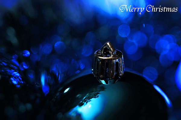Blue Christmas Print by Celestial  Blue