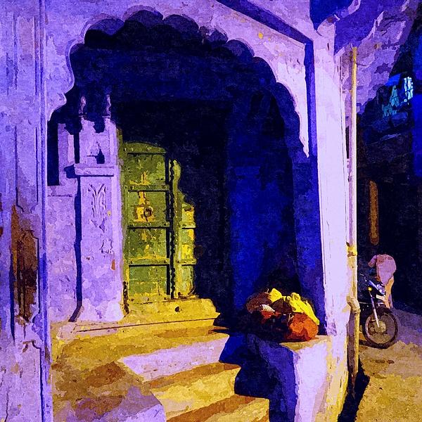 Sue Jacobi - Blue City House Street Corner Rajasthan India 1a