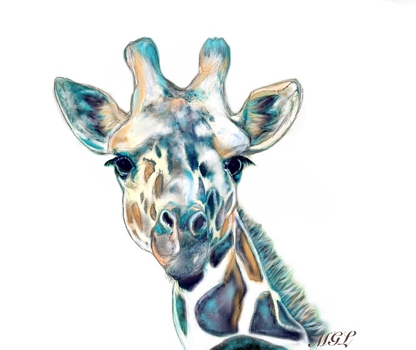 Blue Giraffe By Michelle Gatton Lloyd
