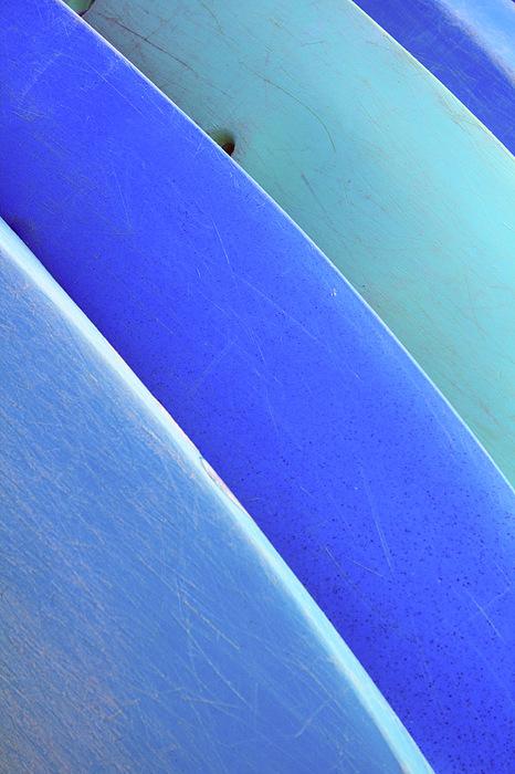 Blue Kayaks Print by Brandon Tabiolo - Printscapes