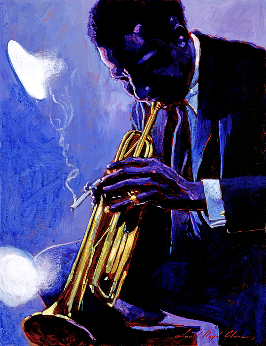 Blue Miles Print by David Lloyd Glover