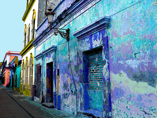 Blue Wall By Michael Fitzpatrick Print by Mexicolors Art Photography