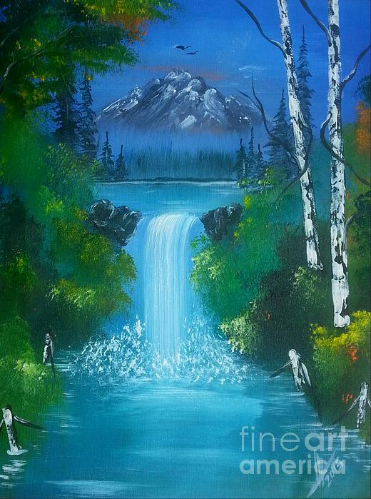 Collin A Clarke - Blue Waterfalls