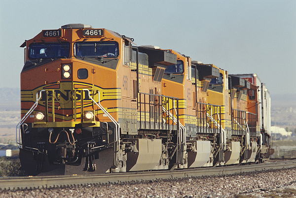 Bnsf Freight Train Print by Richard R Hansen and Photo Researchers