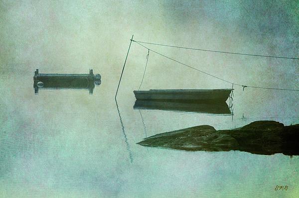 Boat And Dock Taunton River No. 2 Print by Dave Gordon