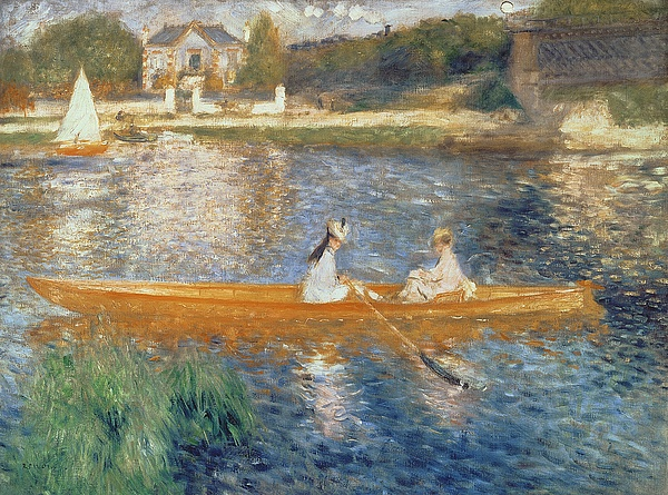Boating On The Seine Print by Pierre Auguste Renoir