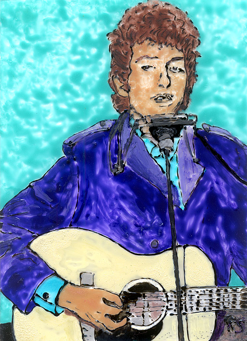Bob Dylan Number 3 Print by Phil Strang