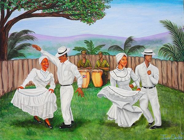 Bomba Dance Print by Juan Gonzalez