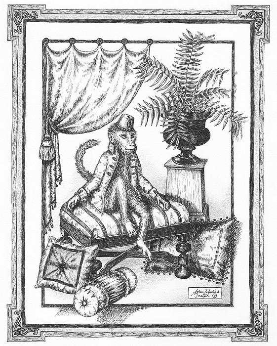 Bombay Monkey I Print by Adam Zebediah Joseph