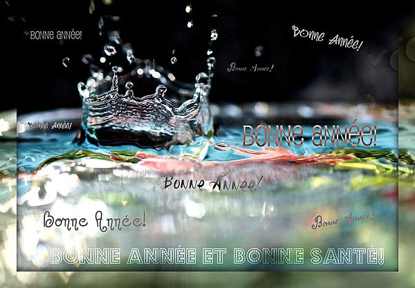 Bonne Annee Card Print by Lisa Knechtel