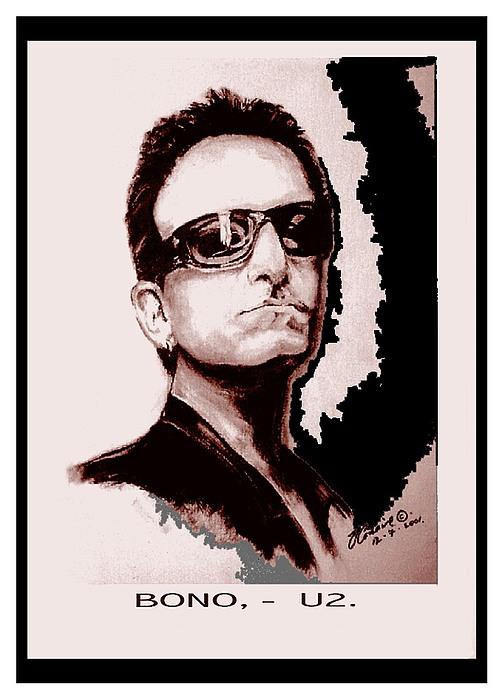Bono U2 Print by Liam O Conaire