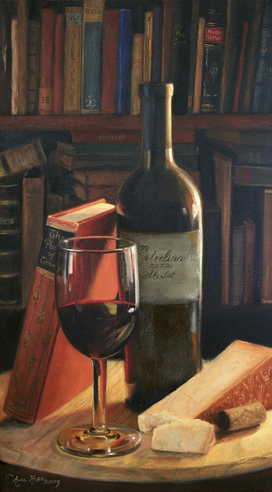 Booked For The Evening Print by Anna Rose Bain