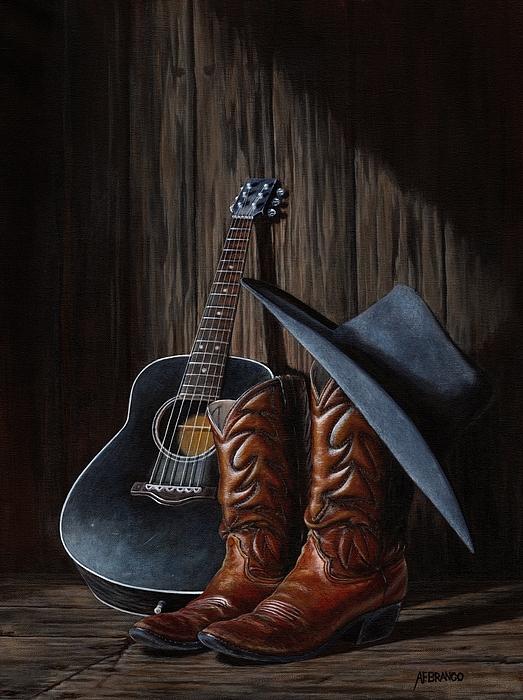 Boots Print by Antonio F Branco