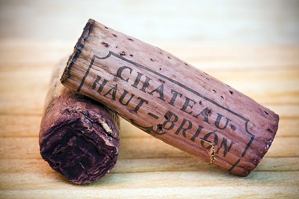 Bordeaux Wine Corks Print by Frank Tschakert