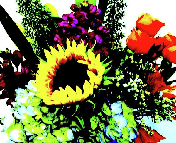Bouquet Abstract Print by Marsha Heiken