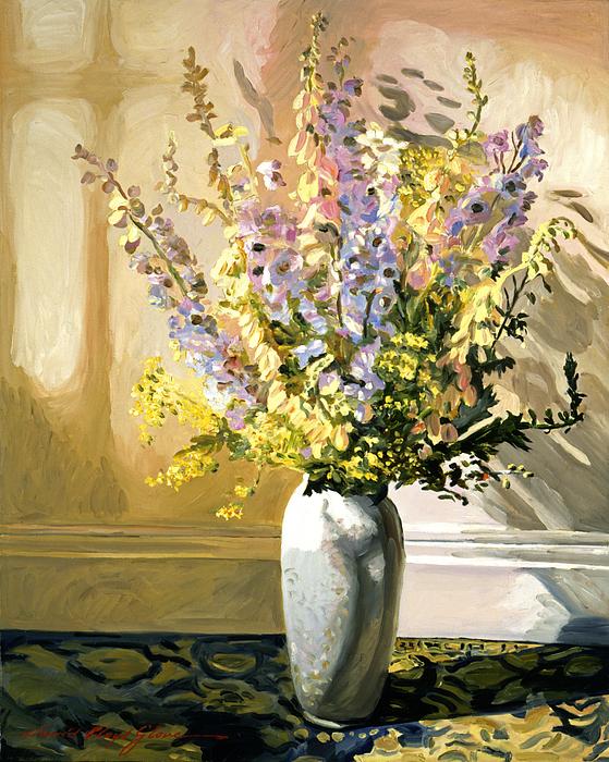Bouquet Impressions Print by David Lloyd Glover