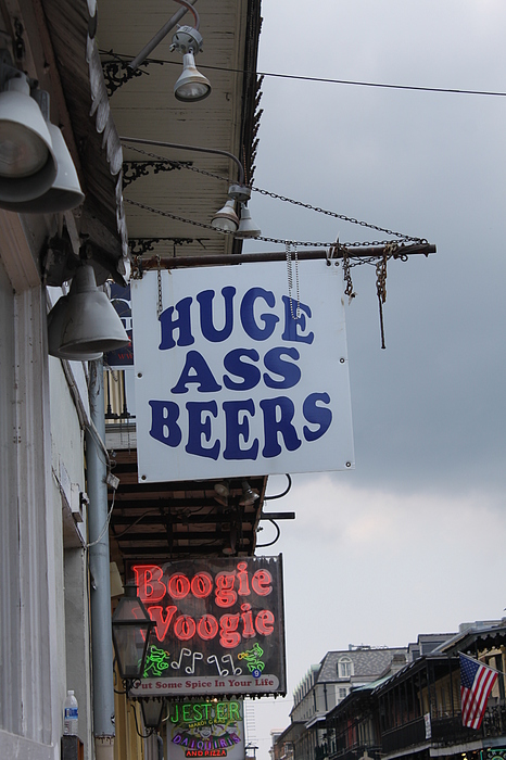 Bourbon Street Signs Print by Lauri Novak