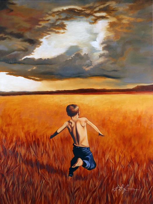 Karl Melton - Boy Running in Field