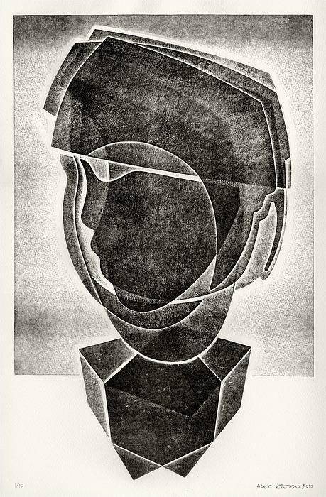 Boy's Head Print by Alex Kveton