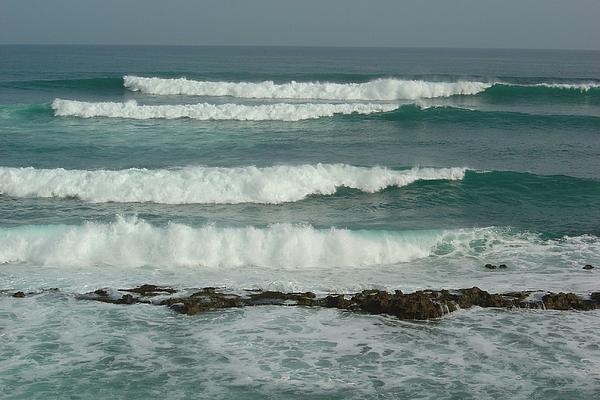Breaking Waves Puerto Rico Print by Patty Vicknair