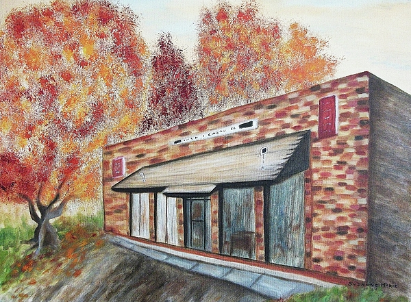 Brick Building Print by Suzanne  Marie Leclair